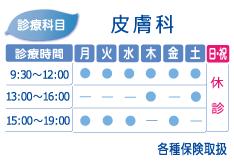 高円寺駅前皮膚科 診療時間